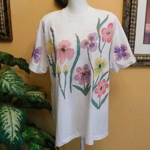 Wetpaint Hand Painted Flower Shirt